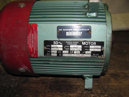 Motors Transmissions Gec Minimotor 1kw 220v Single
