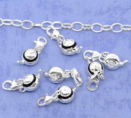 Charms & Pendants - CHARMS - CLIP-ON - SILVER TEAPOT WITH BLACK ENAMEL was sold for R6.00 on 28 ...