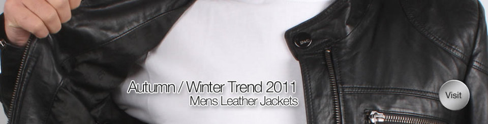 Men's Leather Jackets Banner